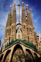 Barcelona -  Sagrada Familia by GreenWay999