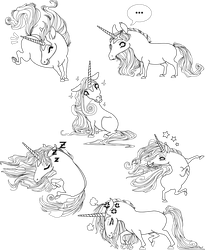 Unicorns poses by Inoosh