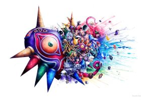 Majora's Mask by SandraInk