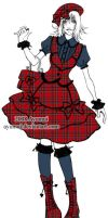 Tartan lolita with beret by Ayumui