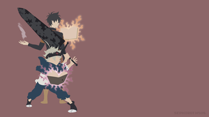 Asta and Yuno (Black Clover) | Minimalist by Sephiroth508