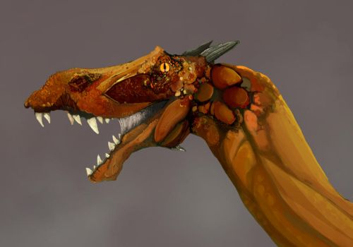 Red Dragon Detail by Jonastation