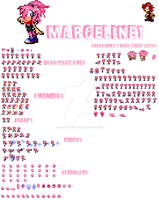 Marceline Sprite Sheet (DONE!) by FlamingInfernoX