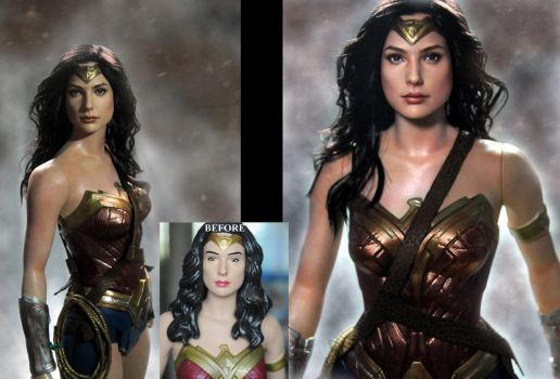 Wonder Woman Gal Gadot custom doll repaint by noeling
