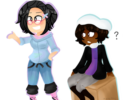 Commission: Two chibi's by M-elody-Break