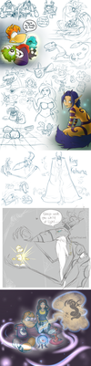 Rayman tumblr doodles 2 by Illegal-D