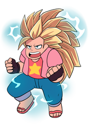 Super Saiyan 3 Steven by AngeliccMadness