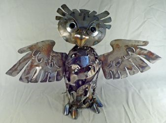 Scrap Owl - Blunt Feathers by Angi-kat