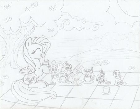 Fluttershy's Little Tea Party - Request by Sonic-Spatula