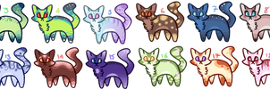 Huge 10pt cat adopts batch [OPEN 2/20] by peaceouttopizza23