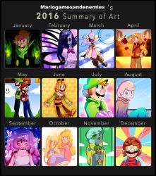 2016 Summary of Art by mariogamesandenemies