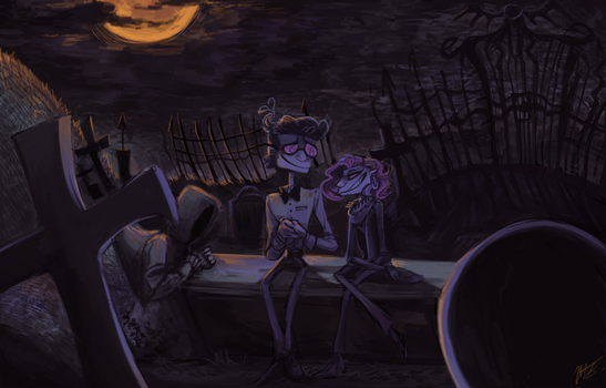 Cemetery Date by AzulaGriffon
