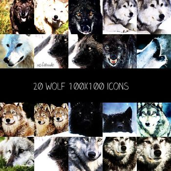 Wolves 100x100 icons by crazycordy