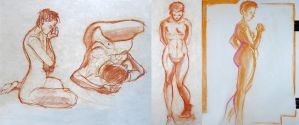 Life Drawing - April 2017 by Gizmoatwork