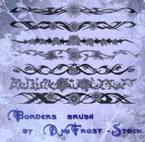 Borders brush set by AnnFrost-stock