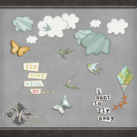 I Want to Fly Away Elements by DaydreamersDesigns