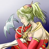 Dissidia: Terra n Onion Knight by witch-girl-pilar