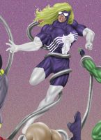 Tentacle Jigsaw 5: Spiderwoman by andrewr255