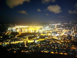 Port Louis harbour at night by carrotmadman6
