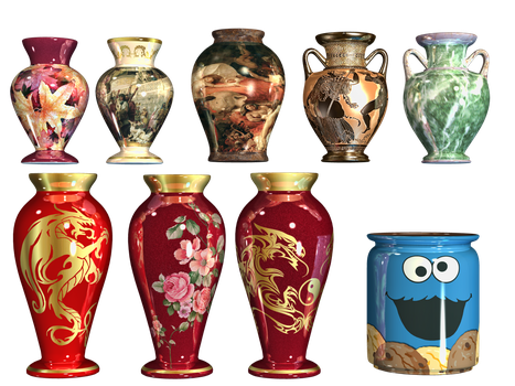 Pottery 01 PNG Stock by Roy3D