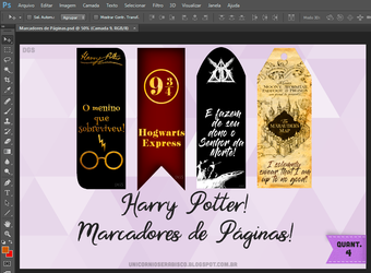 Bookmarks Harry Potter! by dalilasweetbaby