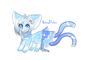 Ribbonfox Auction- Snowflake (CLOSED) by Kuro-The-Art-Kitsune