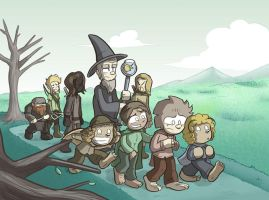 Lord of the Rings Parody Commission by samandfuzzy