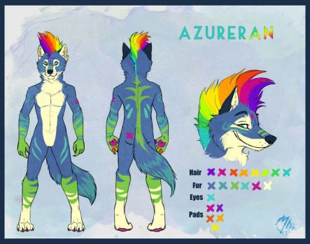 Commission. Azureran Ref Sheet by malta