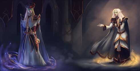 Commission: Touch of the dark by Larbesta