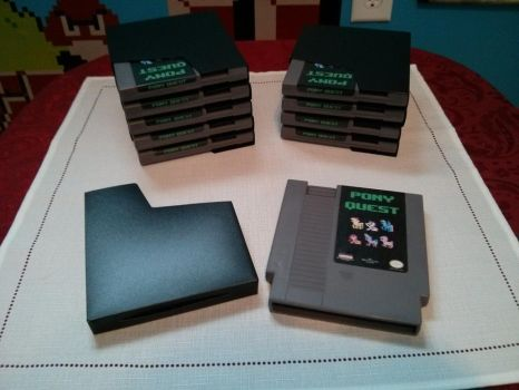 First batch of Pony Quest cartridges by NPCtendo