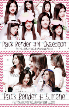 Pack Render#14 + #15 - CHAEYEON + IRENE by fanyhellovenus