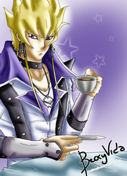[Colored]YGO 5Ds Shots of Life - Jack Atlas by BeckyVida