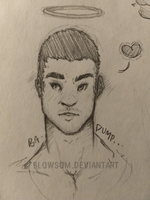 (oc) chris ---- commissions open! by BLOWSOM