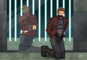 Star-Lord in captivity by Carnath-gid