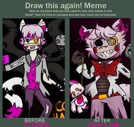 Nightmare Mangle Before and After by ShyeEmerald
