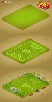 Soccer Town : Soccer Pitch steps by space-ghost