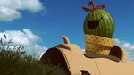 Happy Cactus Riding a Saddle by TheDuckCow