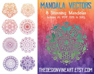 Mandala Vectors Artwork by merrypranxter