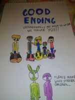 FNAF We're forgive you! (Good ending) by Cilialove3