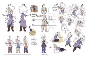 Aster ref sheet by Librocubic