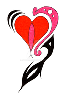 Heart Tat des v2 by sSTARRMa