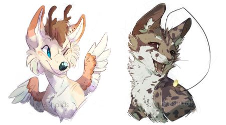 Simple Headshot Commissions by 16Shards