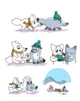 The aventures of the potato foxes by fecama