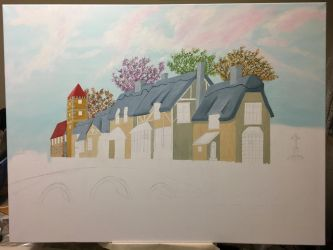 Houses and bridge WIP7 by dublodz