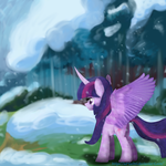 My Little Pony|Twilight | Sparks in the forest by AD-Laimi