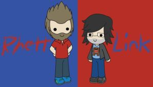 Chibi Rhett and Link by PrincessNeal