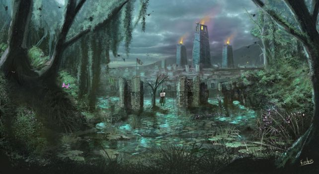 Edelia, City of Death by Erebus-art