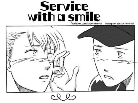 Service With A Smile(mini manga) by suicidollxp
