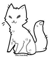 free cat lineart by sailordoq