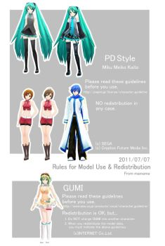 Rules for Model Use by Mamama7028